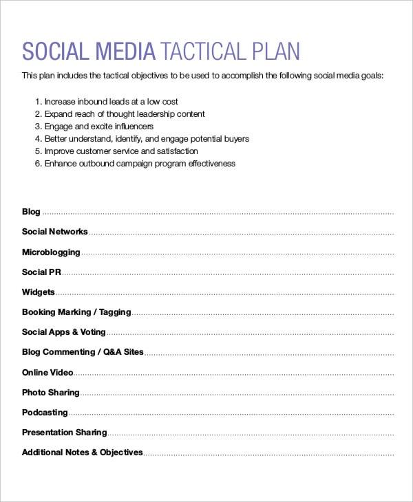 social media marketing action plan