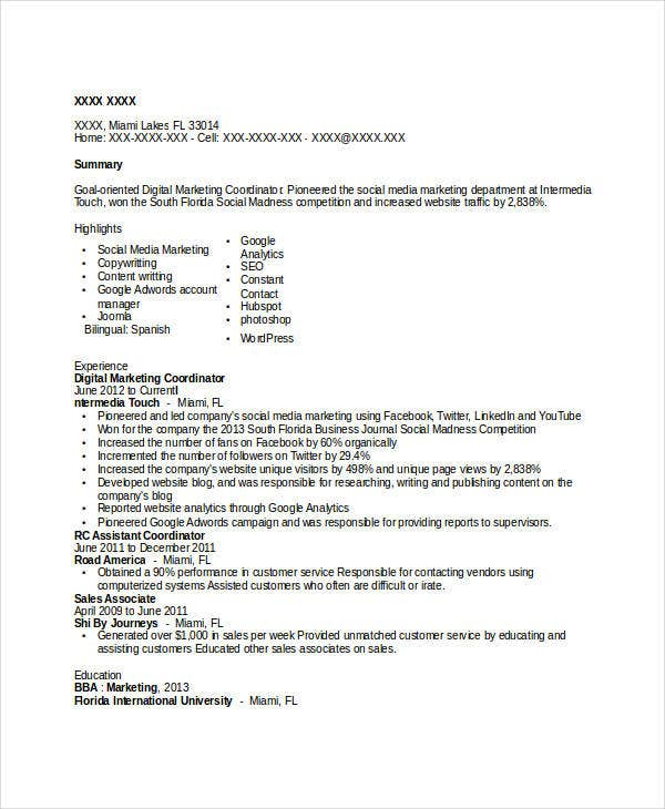digital-marketing-coordinator-resume