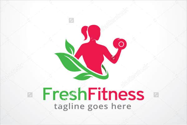 Modern Fitness Sale Logo