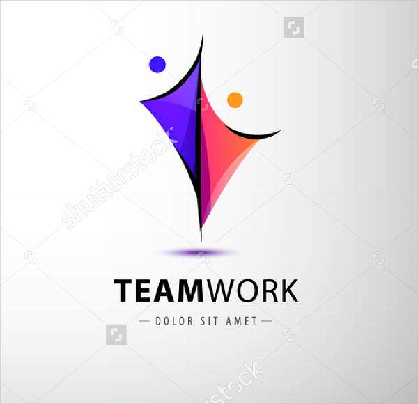 Teamwork Fitness Logo Vector