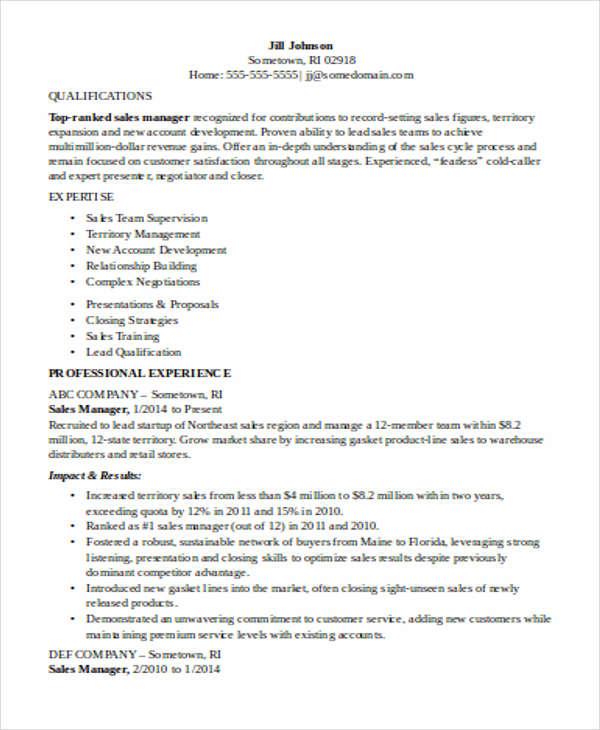 Sales Representative Resume Sample amp Template  Monsterca