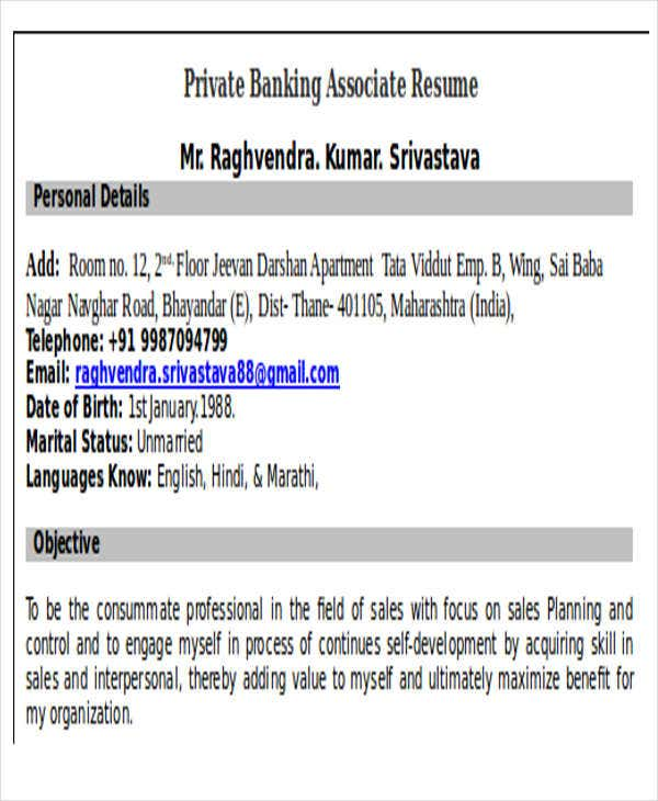 22 Banking Resume TemplatesFreePremium Templates