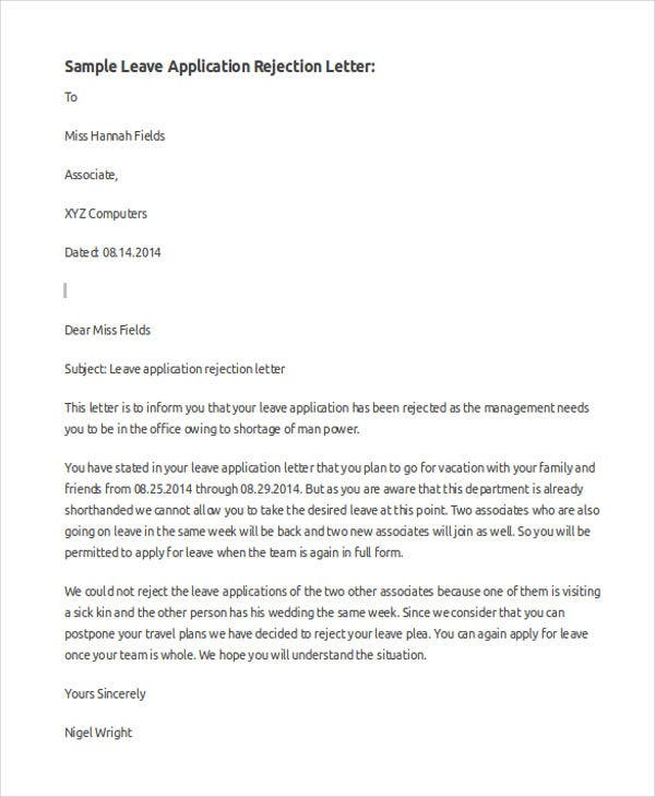 43 Application Letter Template