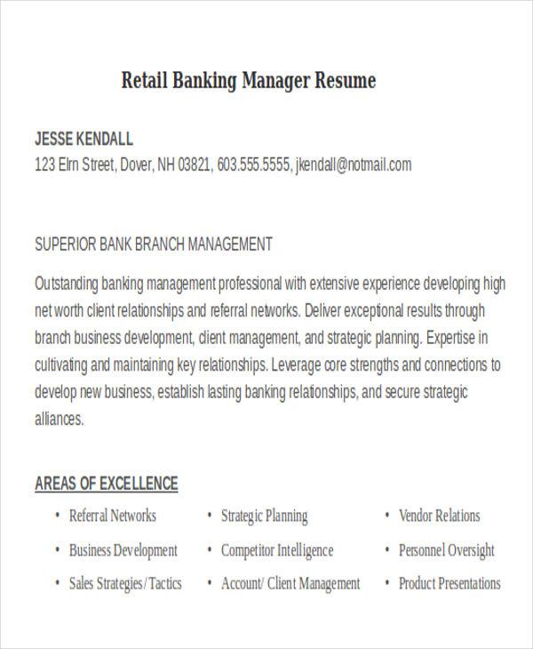retail banking manager resume1