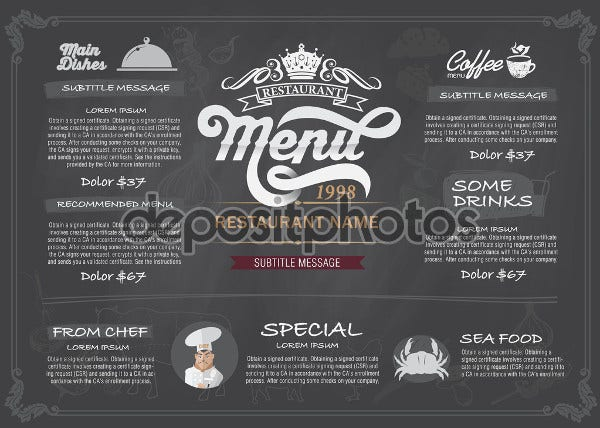 sample chalkboard party menu1