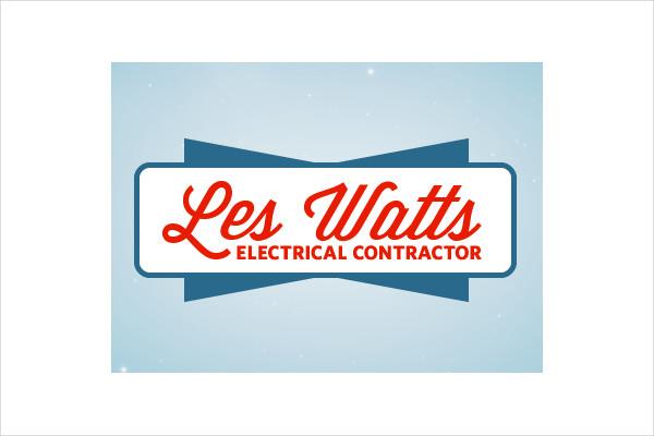 Vintage Retro Electrical Logo