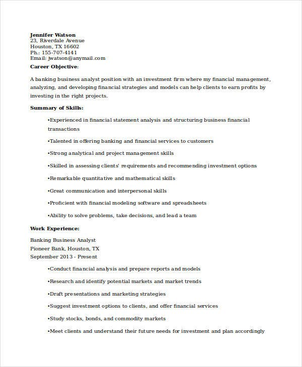 financial analyst resume sle 28 images 8 financial analyst