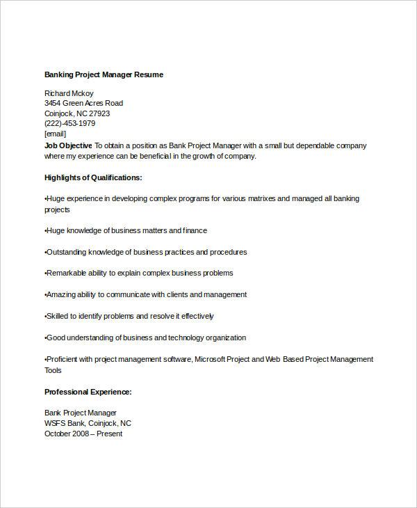 free banking resumes 45 free word pdf documents
