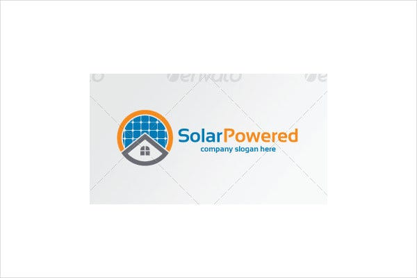 electrical solar power logo