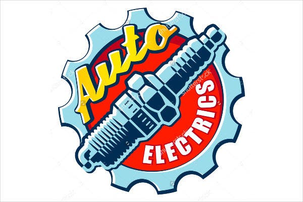 auto electrical logo psd