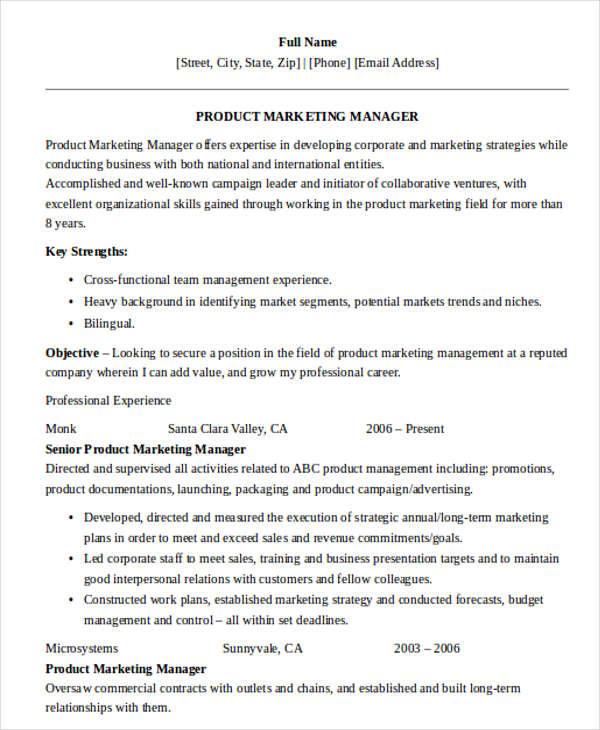 product marketing manager resume7
