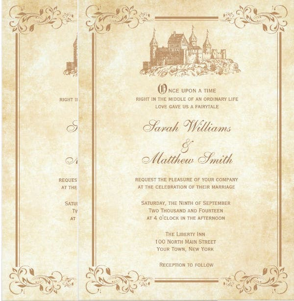 Disney Wedding Invitation Template Free Sample Example Format - Wedding invitation templates: disney wedding invitation templates