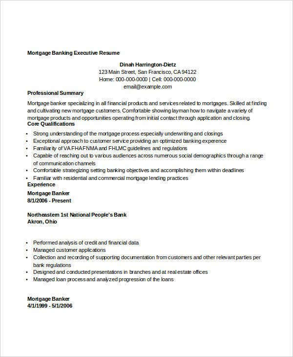 simple banking resume 29 free word pdf documents download