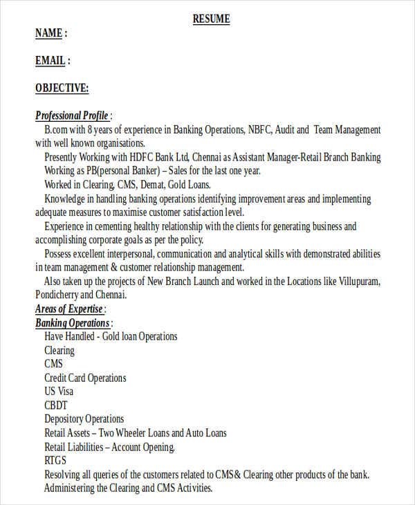 retail banking manager resume5