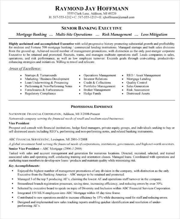 mortgage banking executive resume4