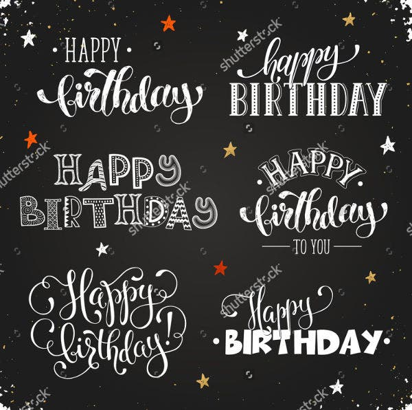 chalkboard happy birthday poster