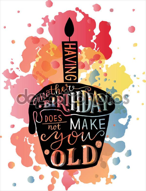 birthday wishes cake poster