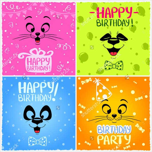 happy kitty birthday poster