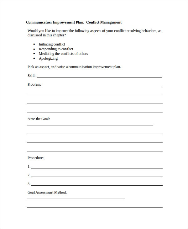 free communication plan template