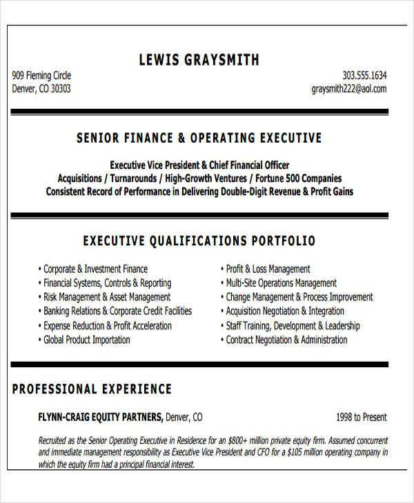 banking operations executive resume3