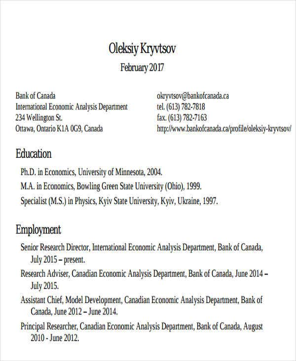 banking research analyst resume4