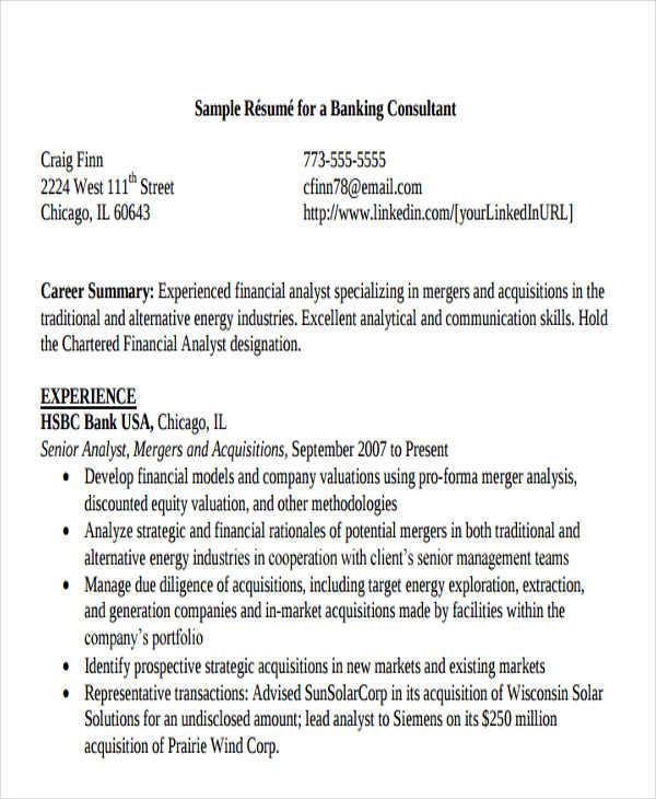 banking resume pdf free premium templates
