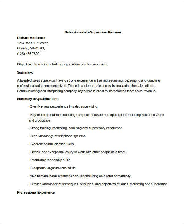 Sales Resume   Free Word Pdf Documents Download  Free