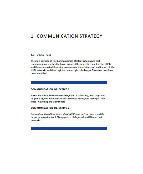 communication and visibility plan