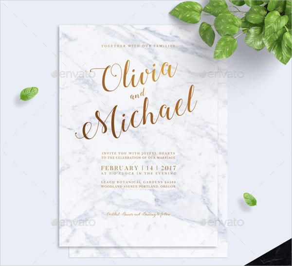 9 Calligraphy Wedding Invitations Free Sample Example