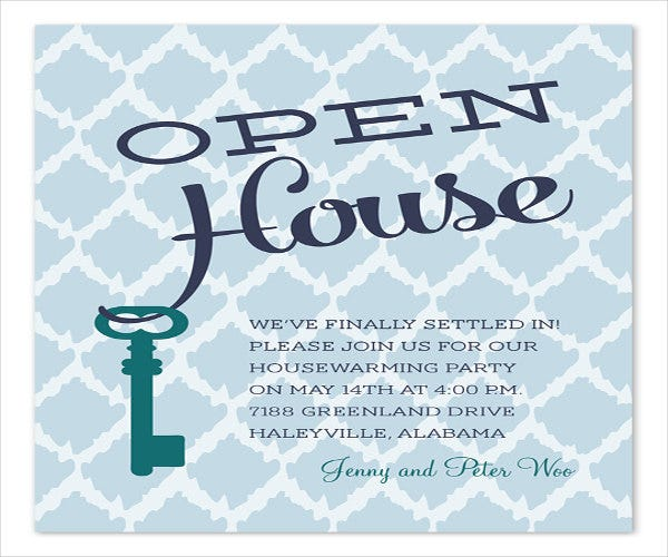 open house housewarming party invitation