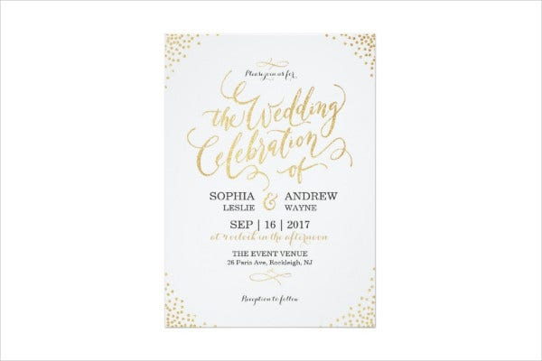 vintage calligraphy wedding invitation