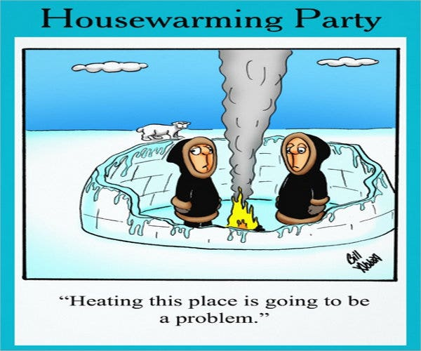funny housewarming party invitation