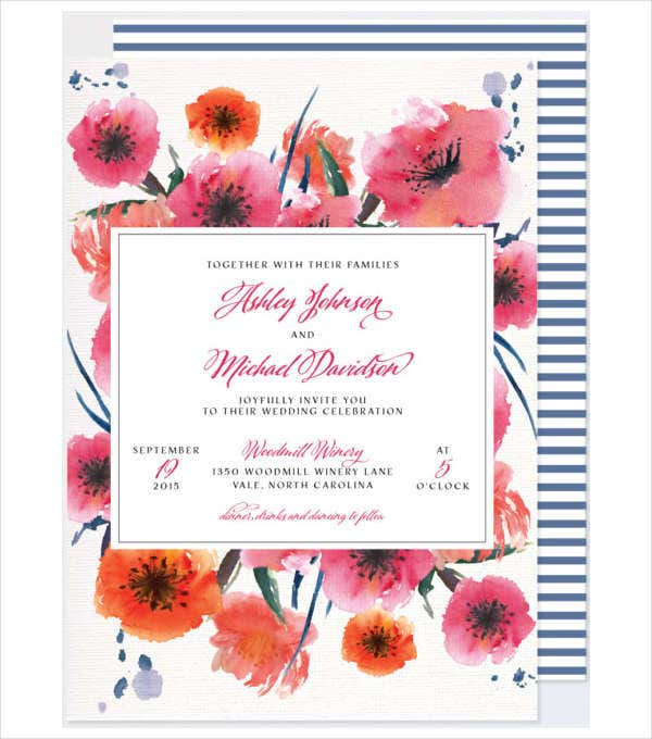 Affordable Calligraphy Wedding Invitation