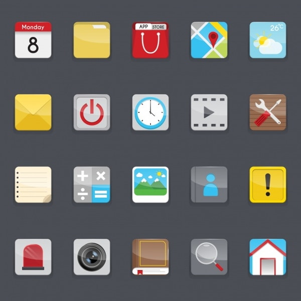 mobile-phone-menu-icons