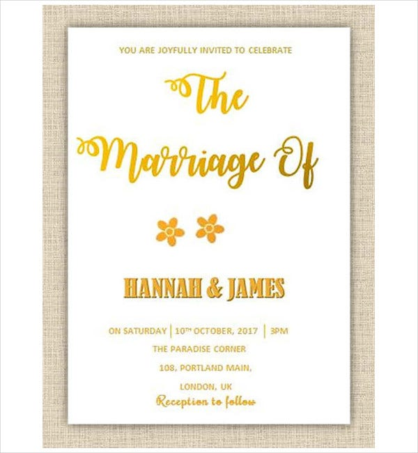 Calligraphy wedding invitations free sample example
