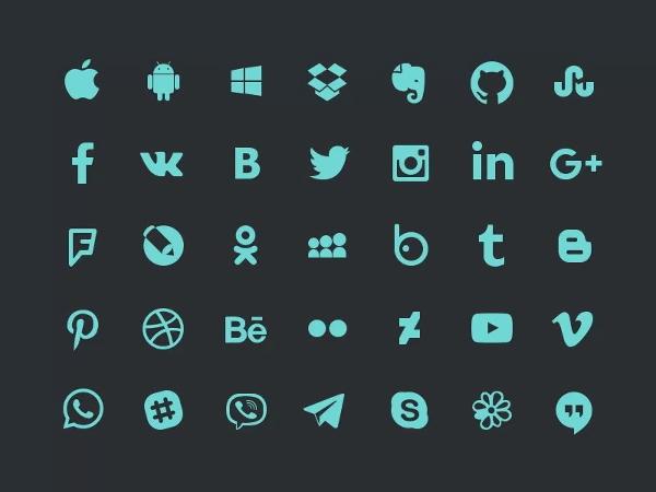 free-psd-social-icons