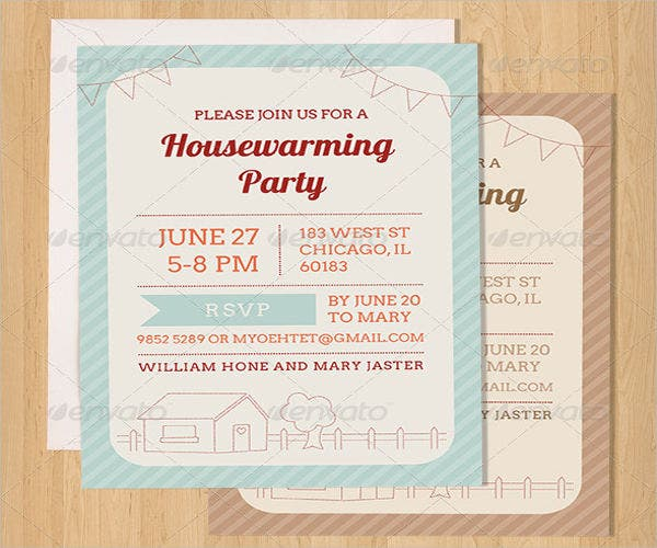 housewarming party invitation psd