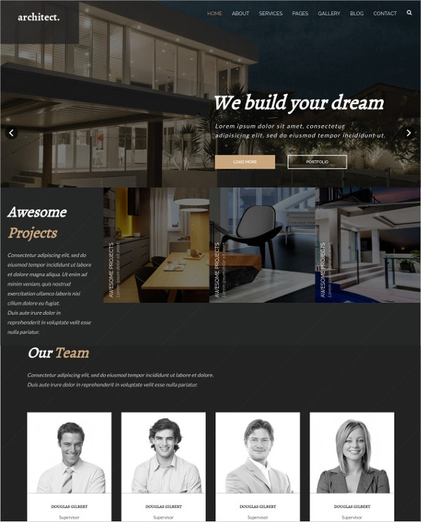 bootstrap-template-for-architecture