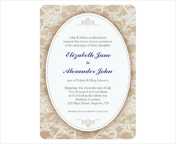 Burlap Wedding Invitation Wording