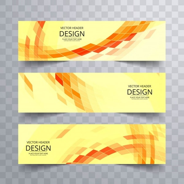yellow-geometric-banners