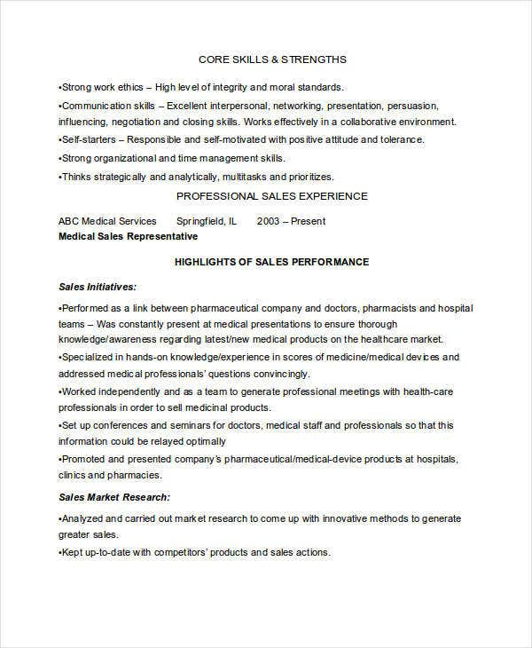 Sample Medical Sales Marketing Resume  Sales Marketing Resume