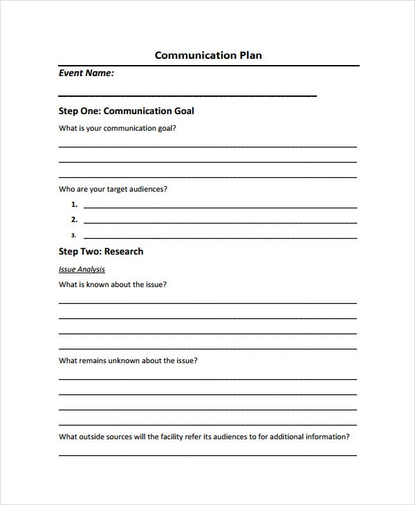 communication crisis management plan