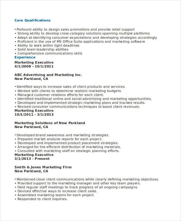 marketing sales executive resume11