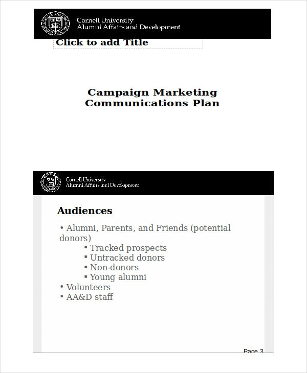 marketing communication campaign plan