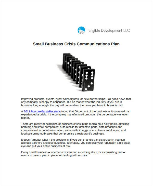 small business communication plan