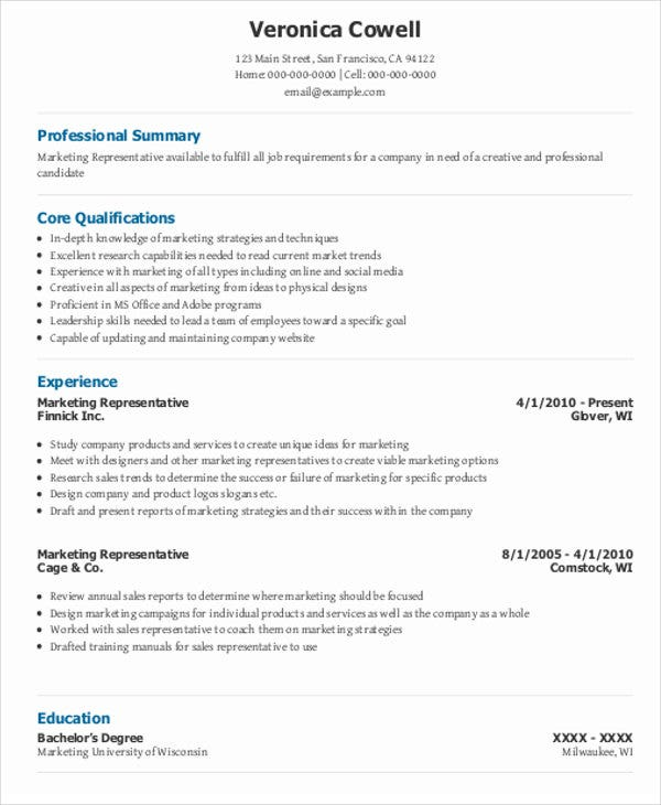 48+ Sales Resume Design | Free & Premium Templates