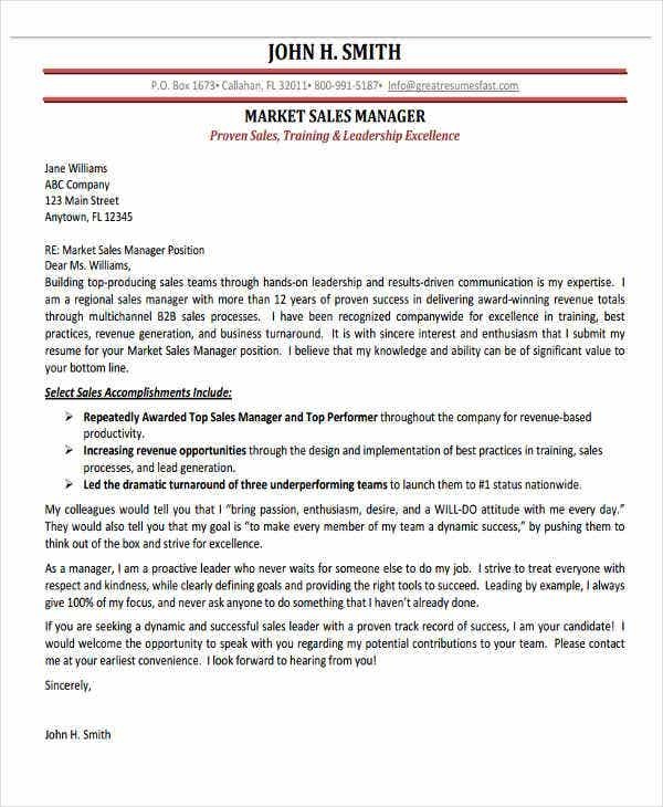 marketing manager application letter1