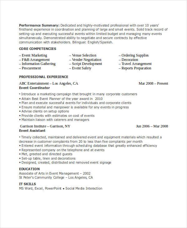 marketing event coordinator resume1