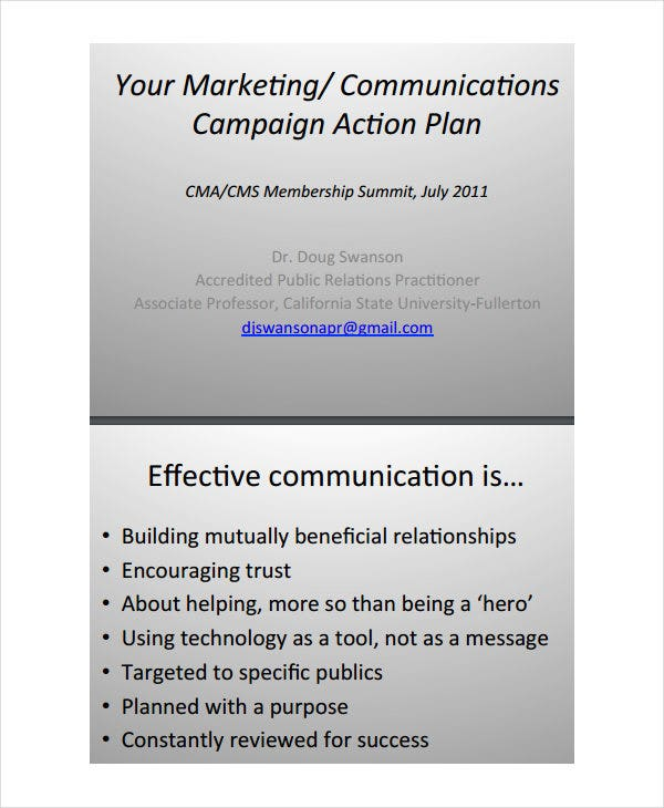 marketing communication action plan1