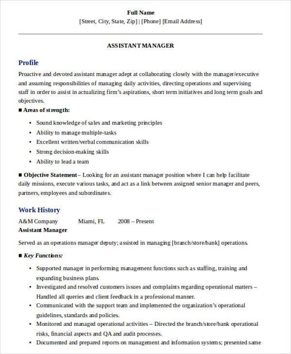 sales assistant manager resume7